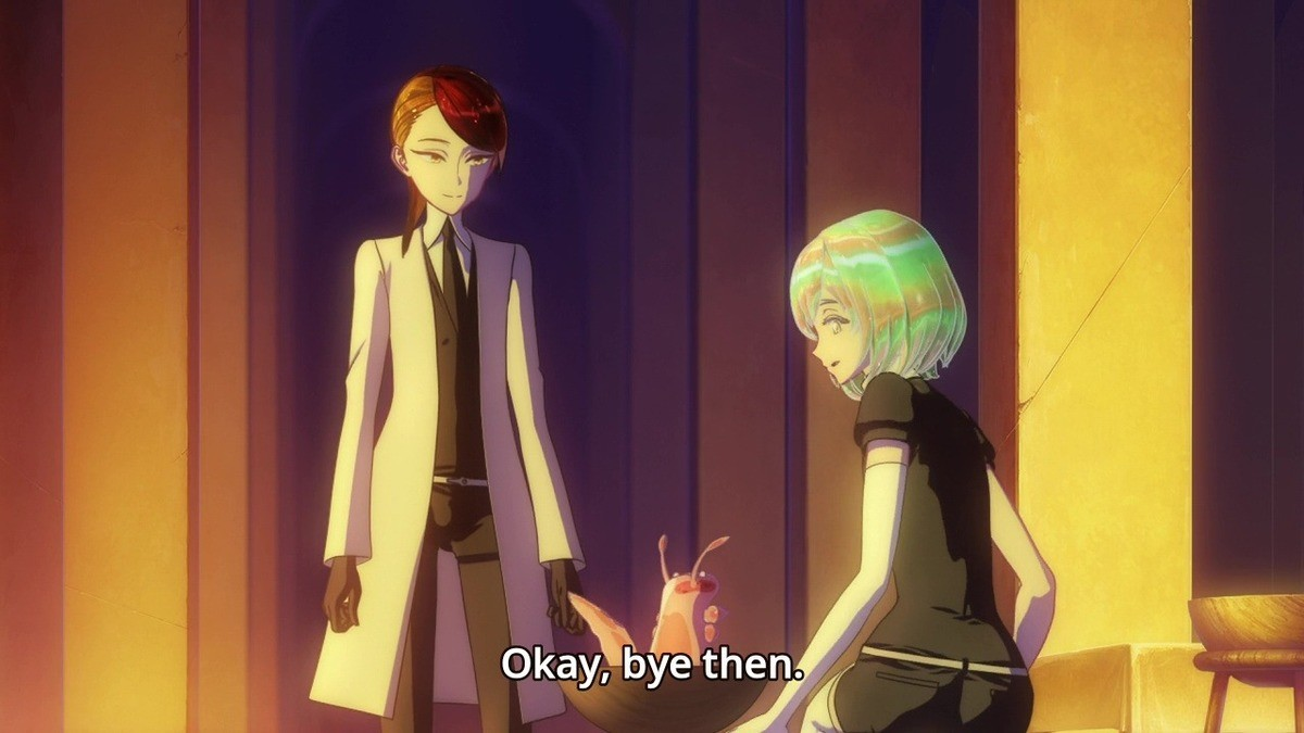 Take Care. Houseki no Kuni.. I tried to watch this. I dun get it.