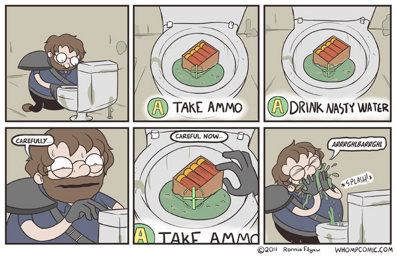Take Ammo or Drink Nasty water. Hate it when games are like this... Tala Ammo H. 125. Goddamn fallout...