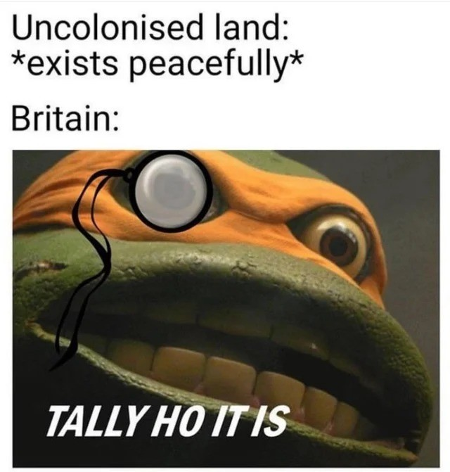 TALLEY. .. not if the french have already stole this land, checkmate.