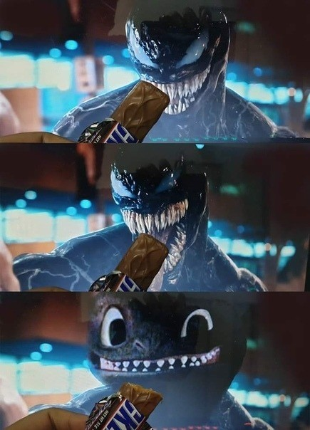Taming Venom. .. I sure could use a snickers right now
