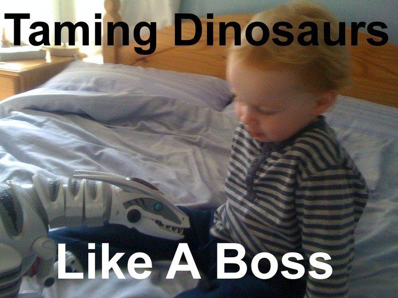 Taming Dinosaurs, Like a boss. Nuff Said..