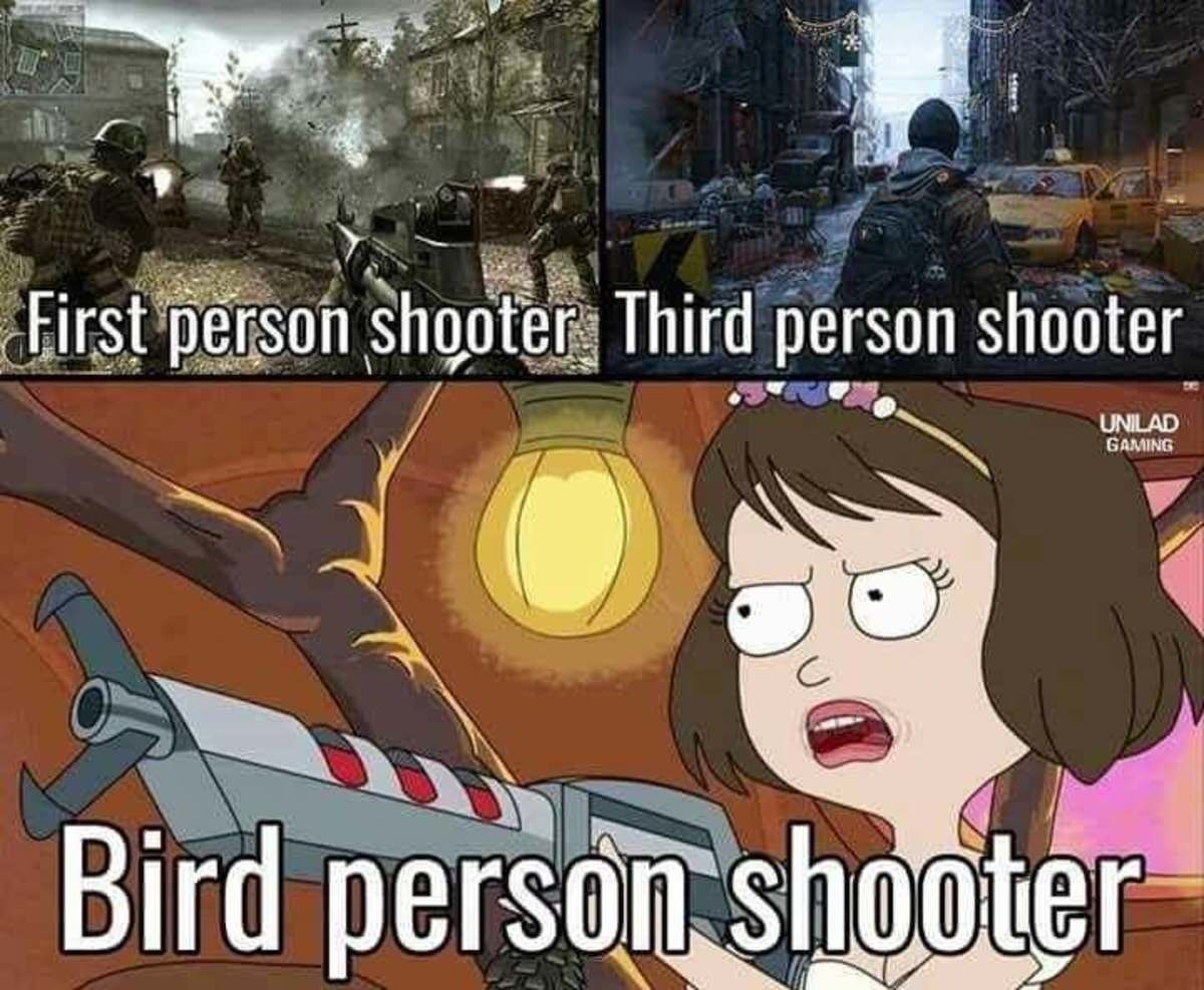 Tammy you giant . . Third person shooter UNCLAD GOUING