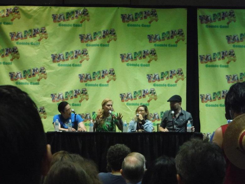 Tampa Bay Comic Con 2015. Anime Panel with Janet Varney ( Korra) Todd Haberkorn ( Hikaru) Christine Cabanos ( Azusa) and Christopher Sabat ( Garterbelt) Billy W