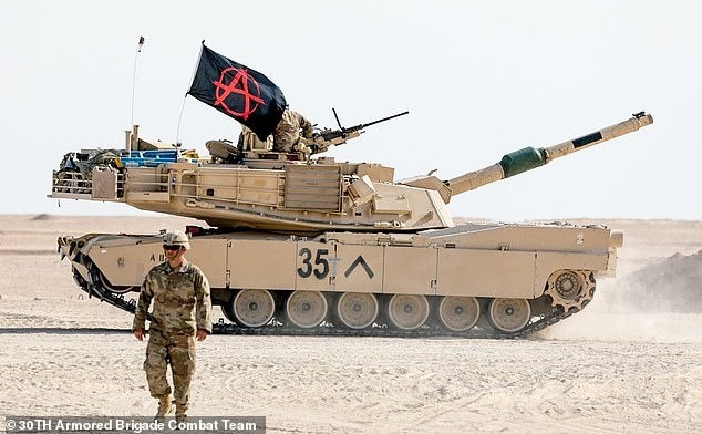 Tank caught with Anarchy Flag, made to remove it. .. Anarchists are literal retards and completely irrelevant.