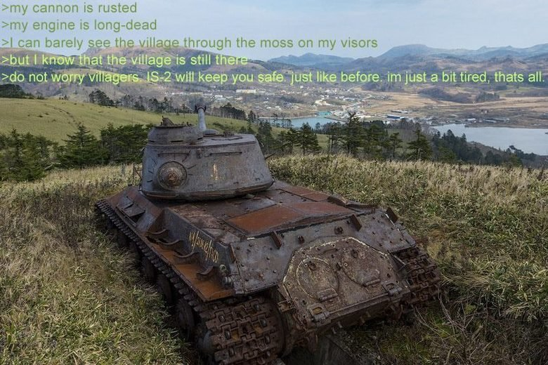 Tank feels. .. It is okay machine spirit, you may rest now for the time of conflict is long over.