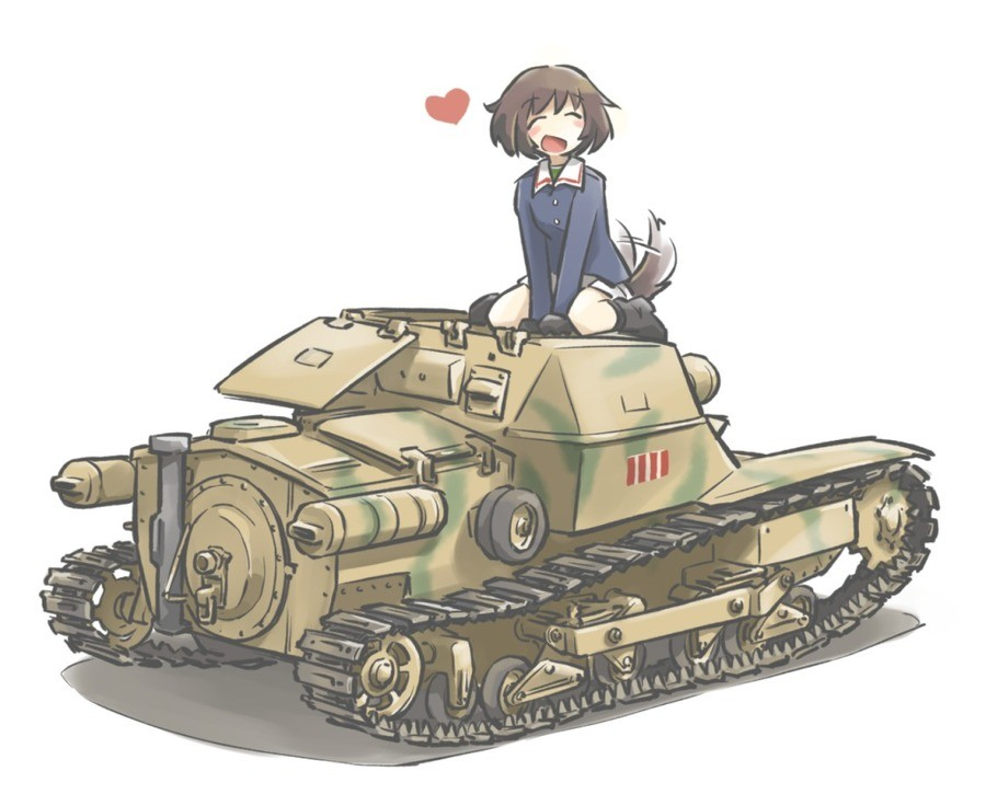 Tank Waifu. Incidentally, my favorite piece of tank-related trivia is this: Did you know that american tank crews are still issued with bayonets? I find this en