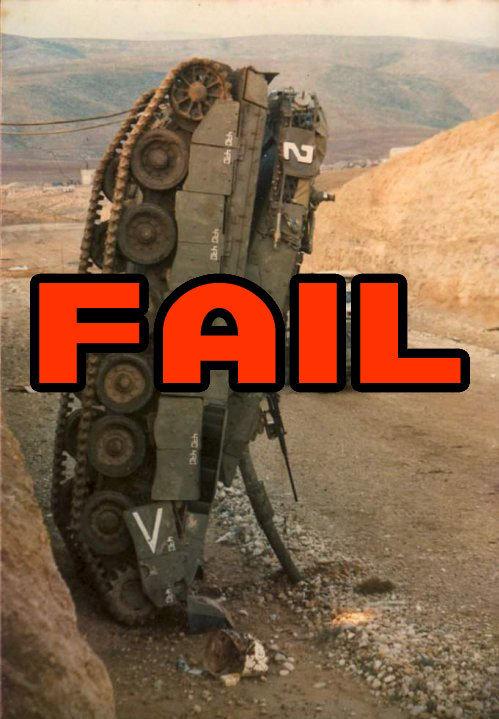 Tank fail. .. then you fail
