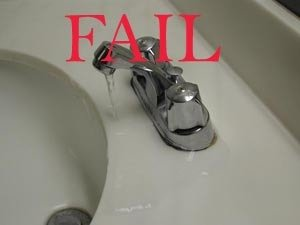 Tap Fail. .. Try turning the tap on fully.