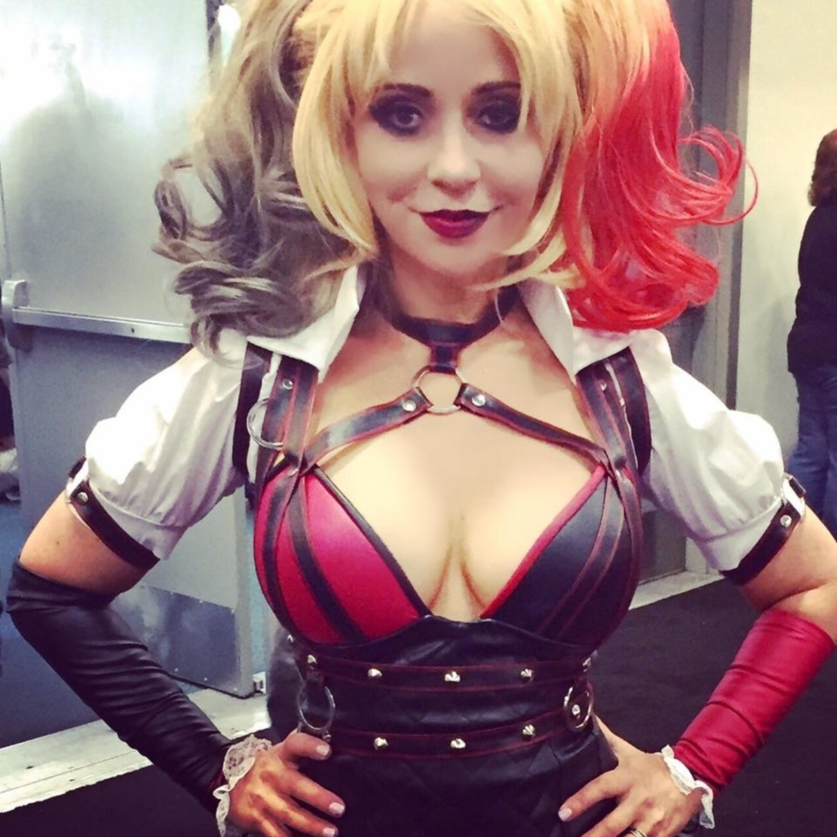 Tara Strong as Harley Quinn. She isn't just the voice of Harley Quinn She is Harley Quinn.. She is a 10 year-old boy You guys are sick