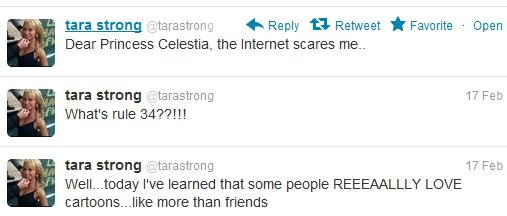 """Tara Strong. they like it more than friends, MORE THAN FRIENDSHIP. Dear Princess Celeste, the Internet scares me- tara strong . tarastrong 1?' Fe: tara strong """""""
