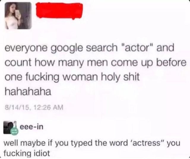tard. .. foolish feminist