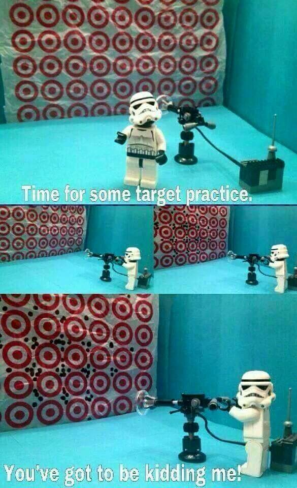 Target Practice. .. clone troopers are actually incredibly well trained, and are highly accurate with their weapons. and no, the reason isn't because vader wants to keep his son al