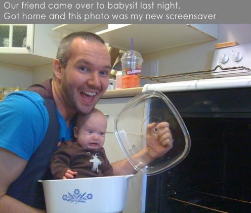 Tastes A Bit Funny..... . Our friend came over to babysit last night. Goi home and this photo was my new