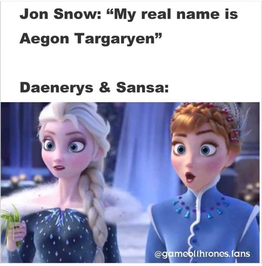tell your kids. .. Jon Should have married Sansa that would unite the kingdoms and make sense