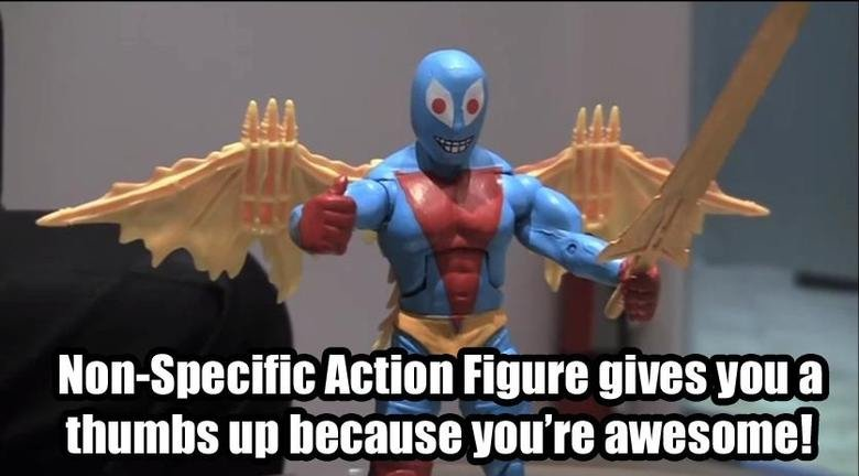 Thanks non-specific action figure!. . tta Action Figure gives Vega thumbs up pleeaase ' rtt awesome!. @iheartdragonsmore yeah he did.