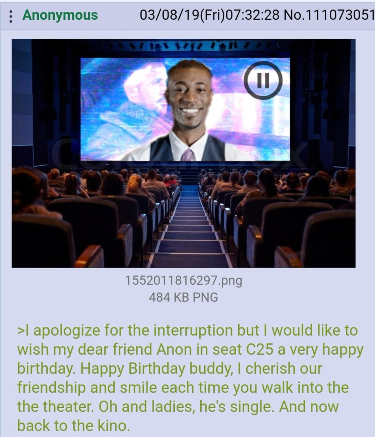 Thanks Robert :). .. Today is my birthday. I'll pretend this was for me.Comment edited at .