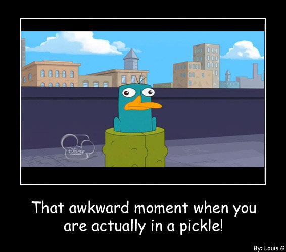That Akward Moment. . That awkward moment when you are actualise (ill pickle! By: Louis G.