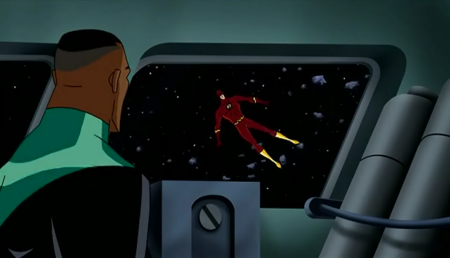 That Awkward Moment When. you see the Flash floating away in space.