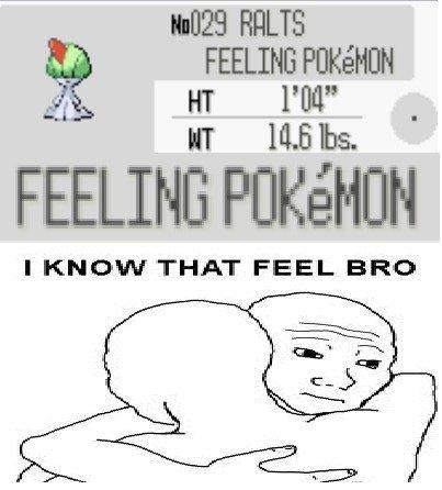 That feelin pokemon!. Who's that pokemon!? The master of feels. FEELING NU' litre tta be.