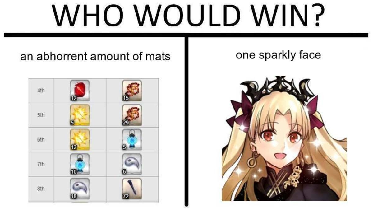 that is how i would level my Ereshkigal IF I HAD ONE!!. .. I spent 2 weeks farming chains for her when I got her And not once did I regret it, best girl