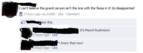 That Dumb .. This dumb bitch just doesn't know her Geography.. I r: ' t be ieve the grand ran} -Inn isn' t the one Givith the has in it! So disappointed this, I