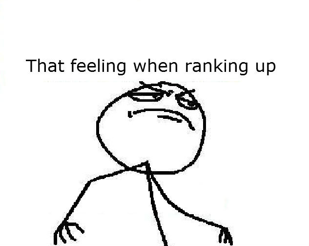 That feeling. you know that feeling when ranking up in FJ oc and first co... no first pic on FJ. That feeling when ranking up. meh 10 thumbs was what i was expecting anyways