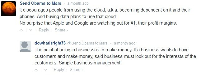 """That's how business works. Comment from article entitled """"Why Google and Apple Don't Want to Give Law Enforcement the Master Key to Your Data"""" It's ho"""