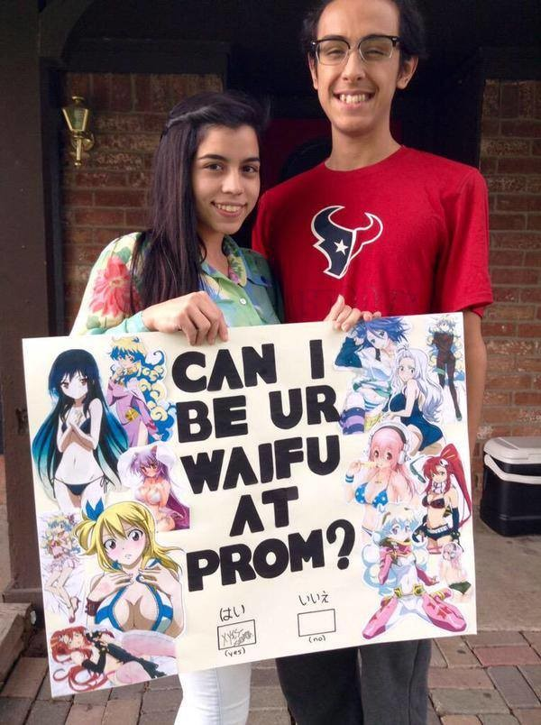 The animemanga userbase goes to prom. That's actually kinda sweet. Good for him... More game than we'll ever have