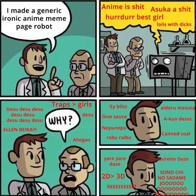 The animemanga userbase makes a Robot. . I made a generic Anime IS shit Asuka a shit ironic anime meme hurrdurr best girl ', page robot India with dicks s > gir