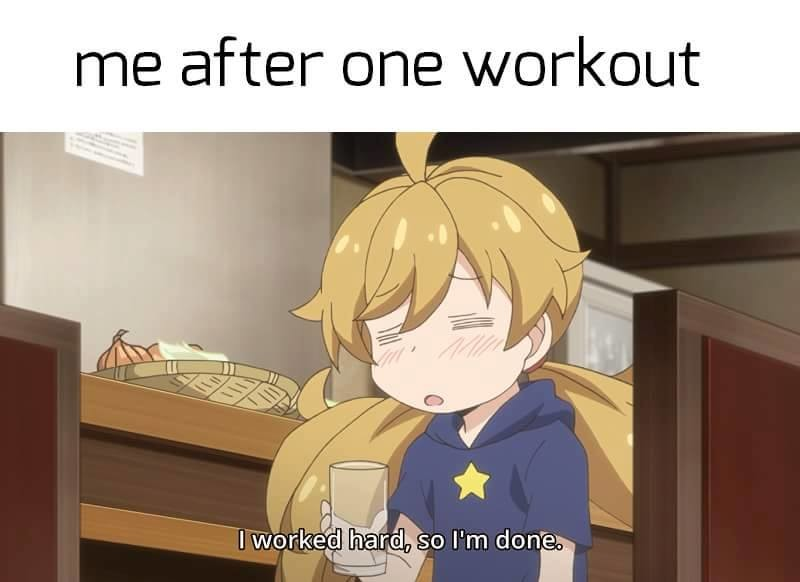 The animemanga userbase needs to Get Fit. Amaama to Inazuma I used to cycle at least 20+KM every day but I haven't for months now. Time will not be kind to me.. 2 yr ago I was just doing basic calisthenic exercises. Now I even made my own little gym. You only need a strong will and resolve to keep it up every other day.