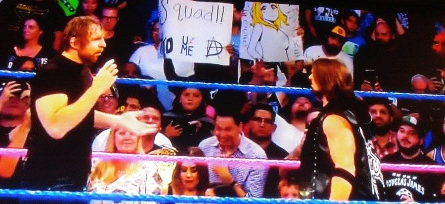 The animemanga userbase Watches WWE Live. FRIDAY NIGHT SMACKDOWN LOVE LIVE! IT'S JOKE! I see lemoron ringside there .. I mean, it's one thing to here where you are just another anon but damn. That dude. Don't know if I should be impressed by the ballzy move or cringed by that fa