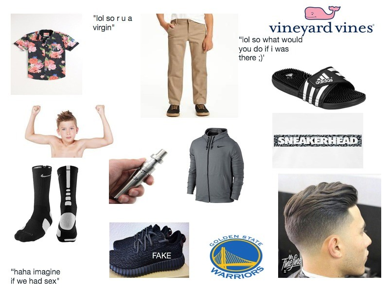 """The Annoying High School Freshman Starter Pack. . ltd an m a vineyard vined lol so what woul you do if i was there if haha imagine if we had sex"""". I still only wear button ups and khakis."""
