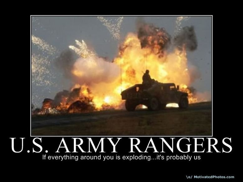 The Army: Whatdya gonna do?. . If everything around you is ' s probably us lo/ Ma dilated. yeah Army.