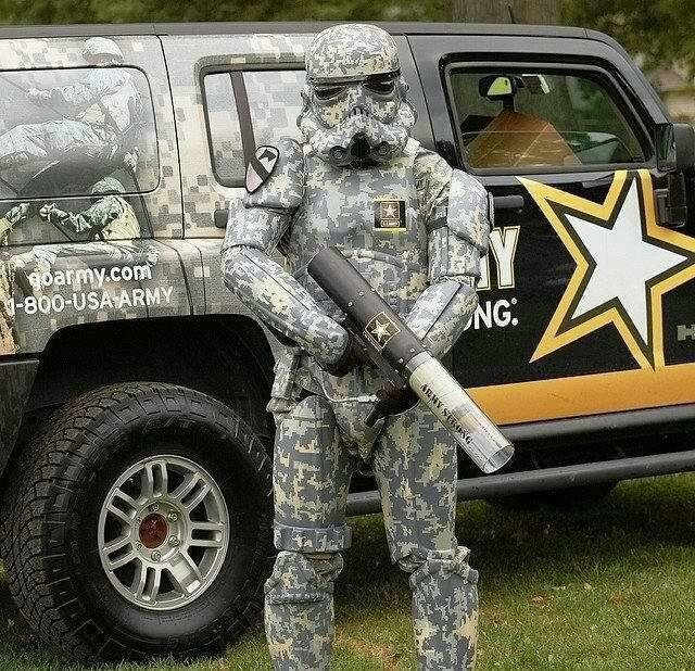 """The Army. .. """"these aren't the terrorists we're looking for."""""""