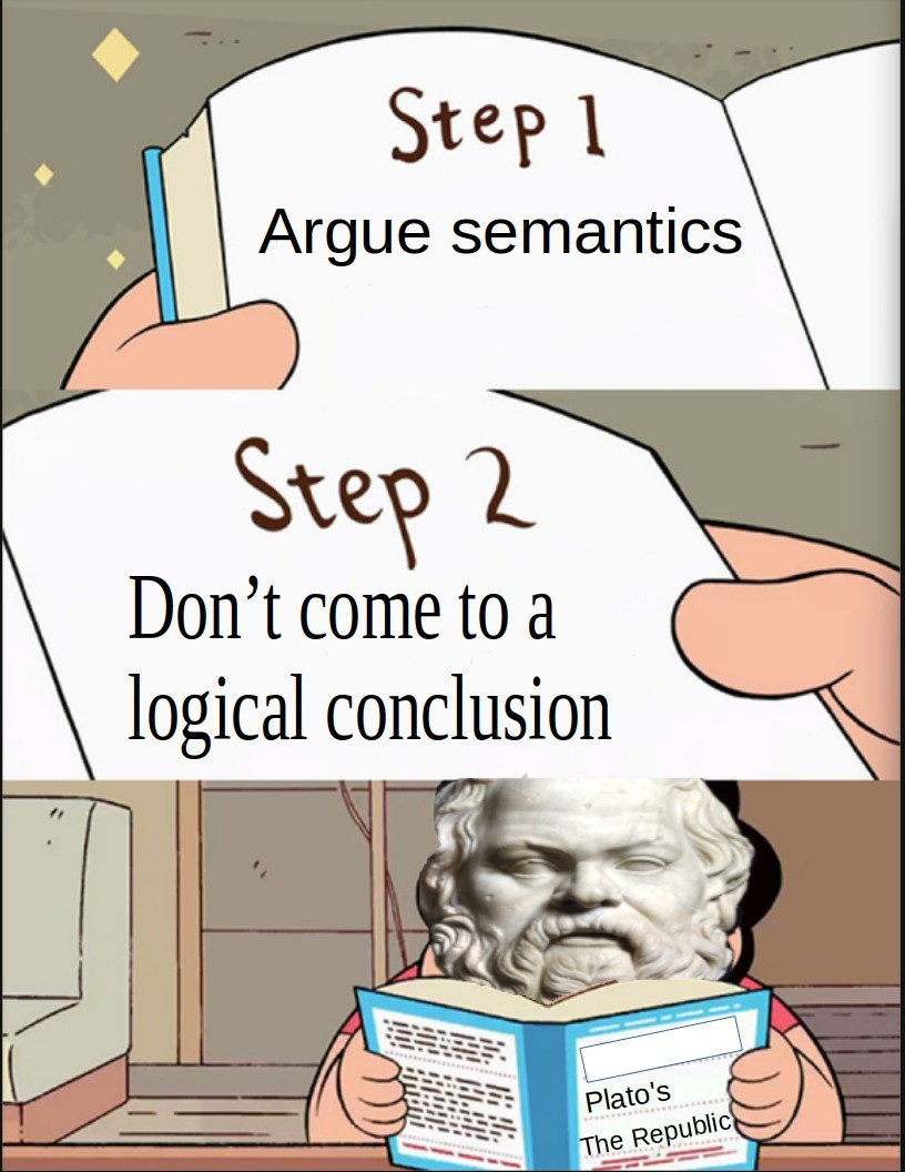 The Art of Argument: or how i learned that Sophistry is bad. .. Better to recognize an argument is based on semantics and can't be settled logically than to make hasty conclusions.