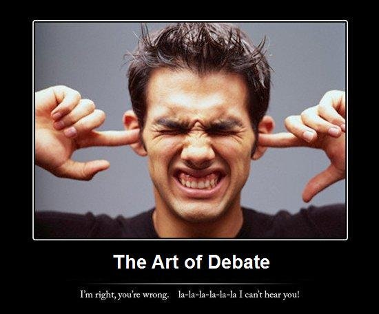 The Art of Debate. Yes this is a repost but from me. I submitted it once before but i'm not sure if it worked.. The Art of Debate