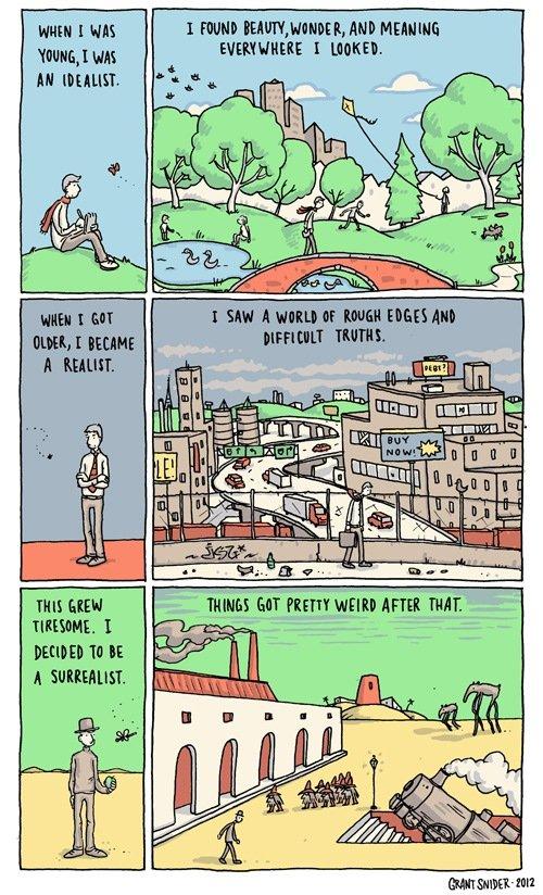The Art of Living. Source & more: . cumuli : I mum. Eldin ll are. FL E ARI I. Not a Salvador Dali reference.