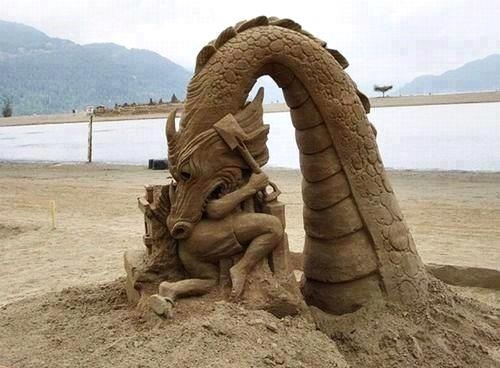 The art of sand. .. You made it sound so majestical. Not a sand sculpture, but the art of sand.