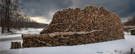 The art of stacking wood.. .