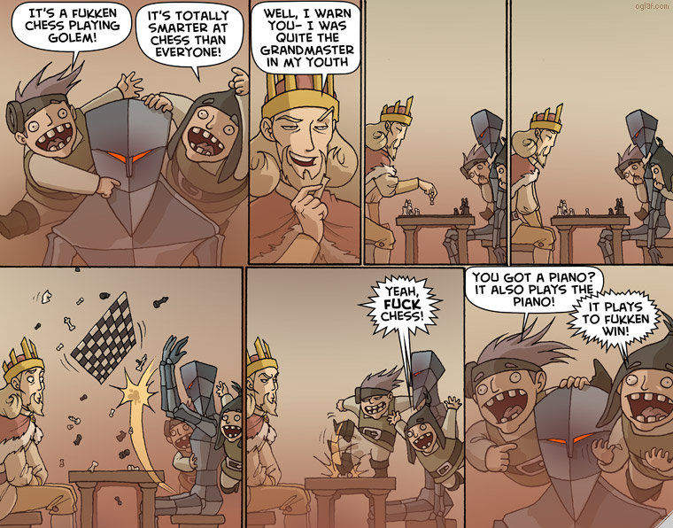 The Automaton. Source is oglaf. CHEERS THAN QUITE THE