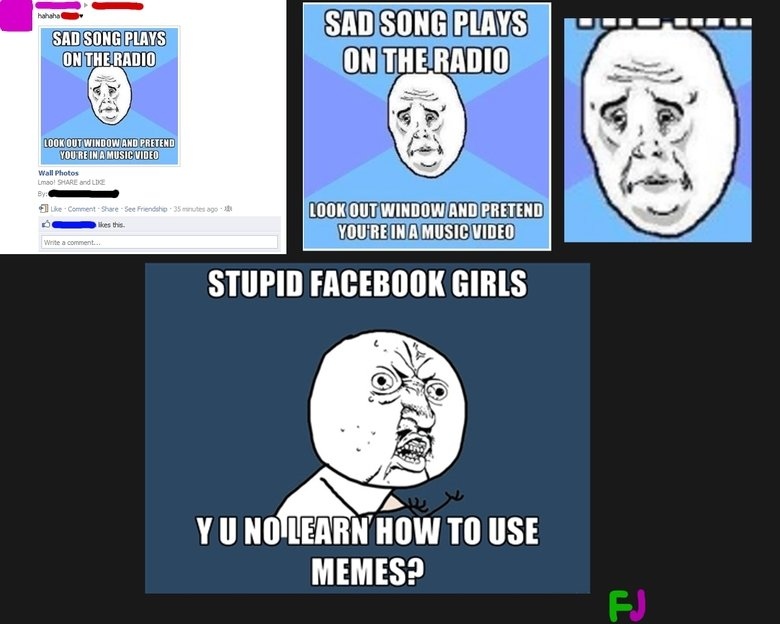 The average Facebook girl. just saw it while browsing mah facebook. MERGE MEMES?
