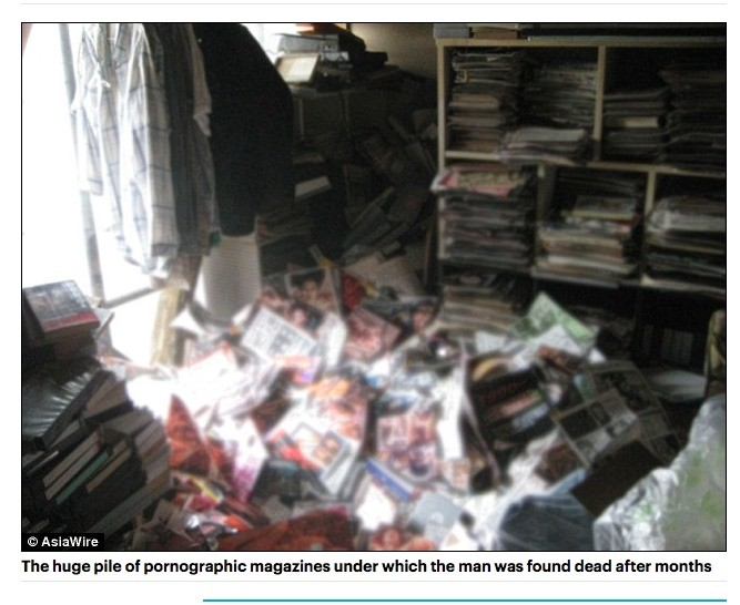 The average FJ user. Source: . The huge pile: at pornographic magazines under which the man was fun rid dead aftar months. join list: TheNewsReelMention History Holy this is a real story RIP Lotengo F