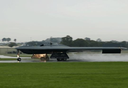 The B-2 STEALTH has landed. .. its actually called a B-2 spirit