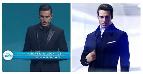 The bad guy of Mirror's Edge 2 is EA's CEO.... .. EA's CEO and the bad guy of Mirror's Edge 2 are Space Trump in Elite Dangerous