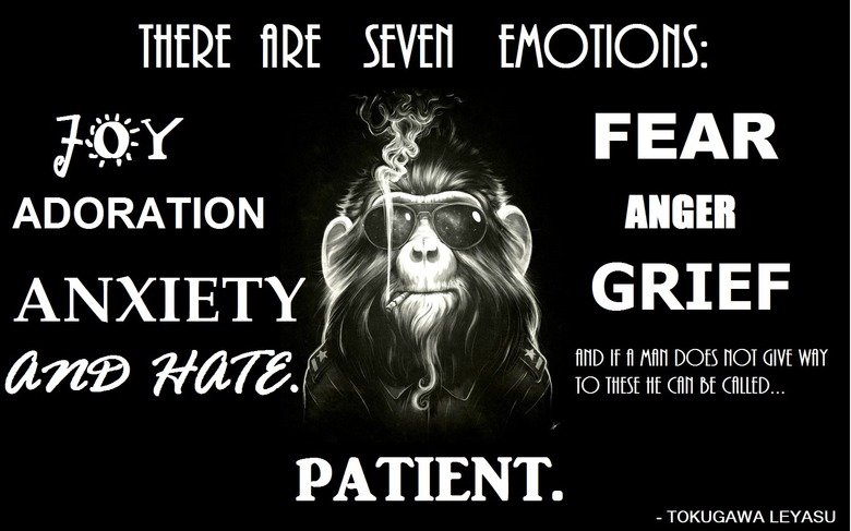 The Bad Monkey Sayeth Unto Thee.... Words to remember, if you care. THERE SEVEN alih/ ( Ci) : ADORATION ANGER TOKUGAWA IEYASU. And here is the unaltered version for you as well.