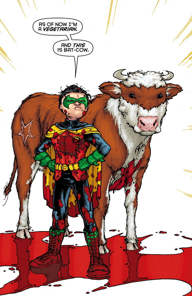 The bat-cow. several months later 1 day later 1 year later. 3 n VEGETERIAN. /is'' 2,