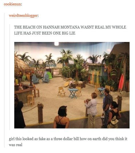The Beach. . THE BEACH ON HANNAH MONTANA WASNT REALEY WHOLE LIFE HAS g BEEN DEE BIG LIE haked wasted