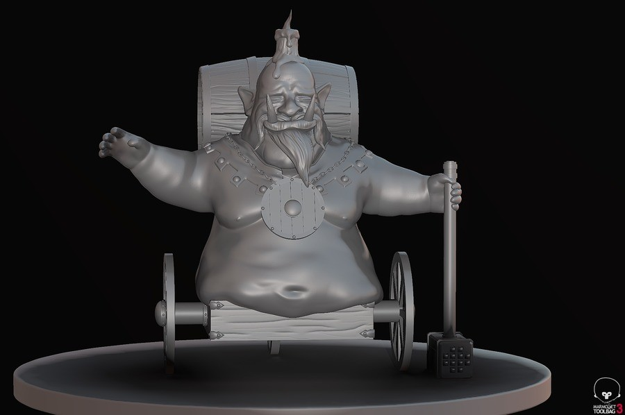 The Beer Troll. Fun little tabletop project im doing to unwind, still a few bits to put on it tho. Somehow I find making fat guys really relaxing.. Holy . How was this made? Did you make this?