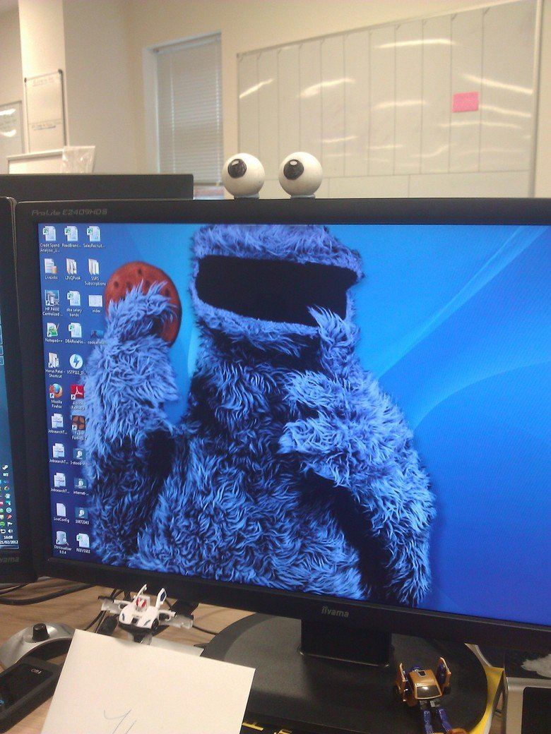 The Best Backround you could ask for. Cookies... Cookie monster wants to play the cookie game.