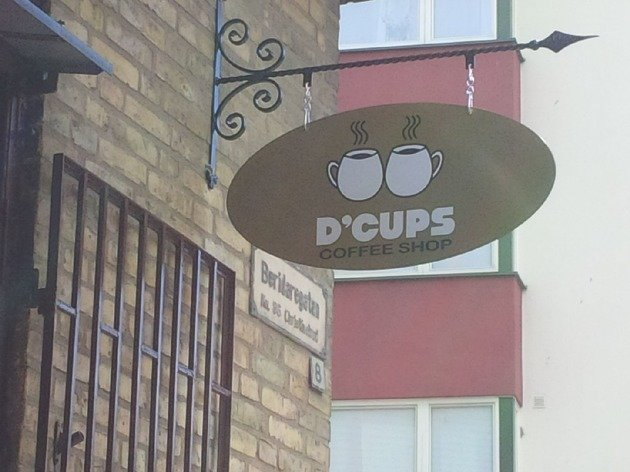 The Best Coffee Shop. Not mine.. Plot twist: The cups are made from stretched foreskins